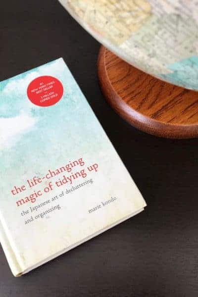 Flatlay of the Life-Changing Magic of Tidying Up