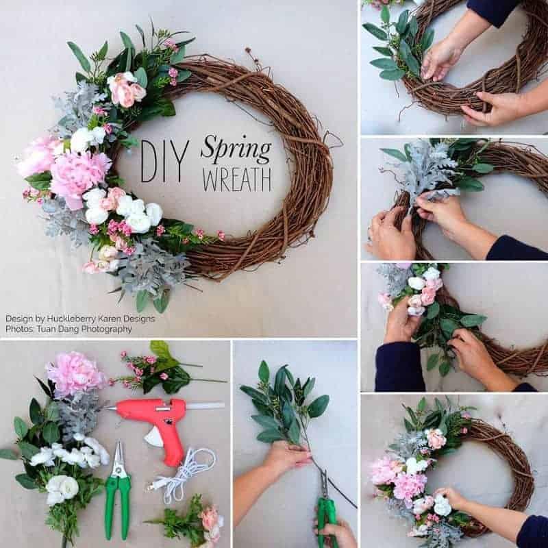 Woven spring wreath