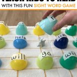 An Easter game with sight words and Easter bunny