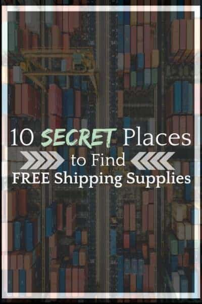 10 Secret Places to Find FREE Shipping Supplies