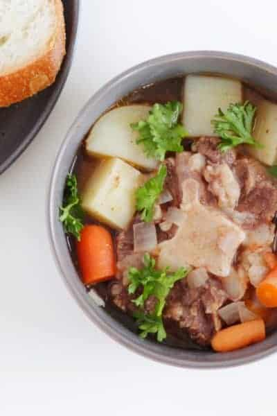 This Simple Slow Cooker Oxtail Soup is Hearty and Tender!