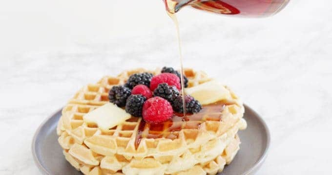 The Best Fluffy Homemade Waffle Recipe