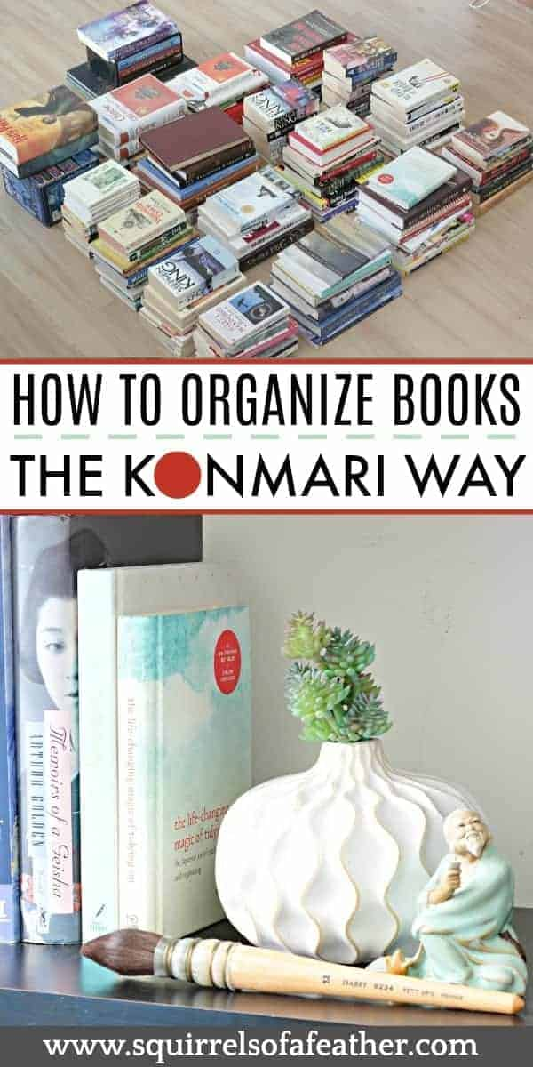 Decluttering books with the KonMari method infographic
