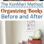 Books organized with the KonMari method