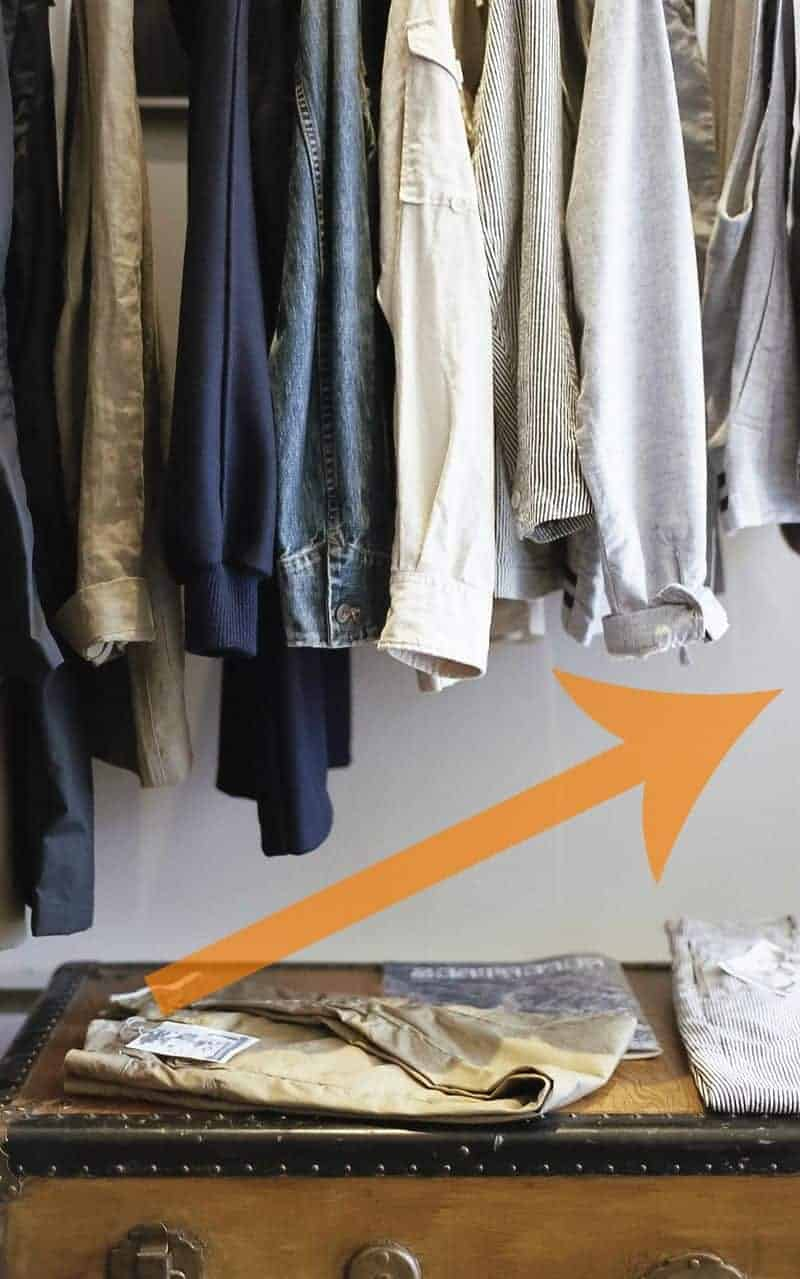 How to hang clothes with KonMari method