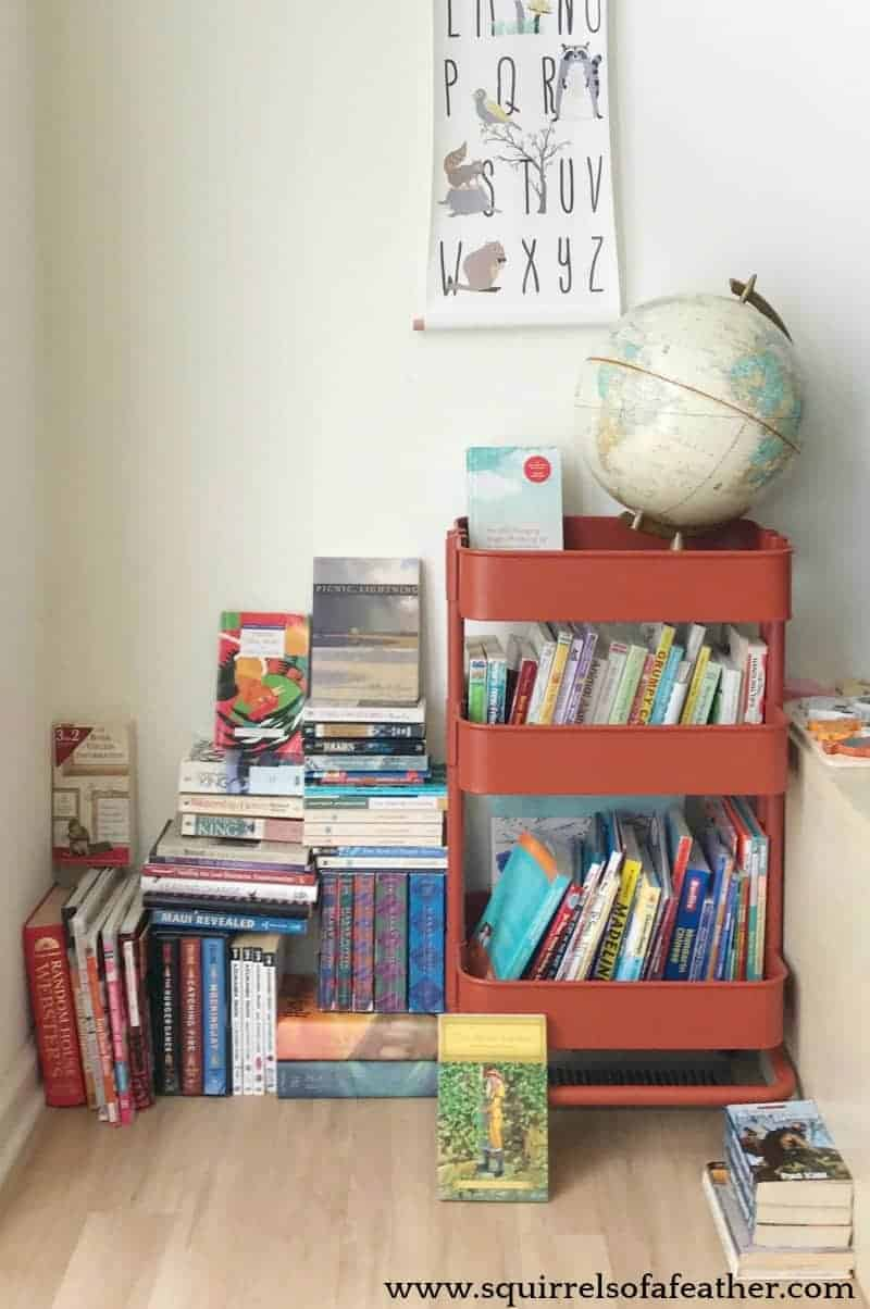 Books decluttered using the KonMari method