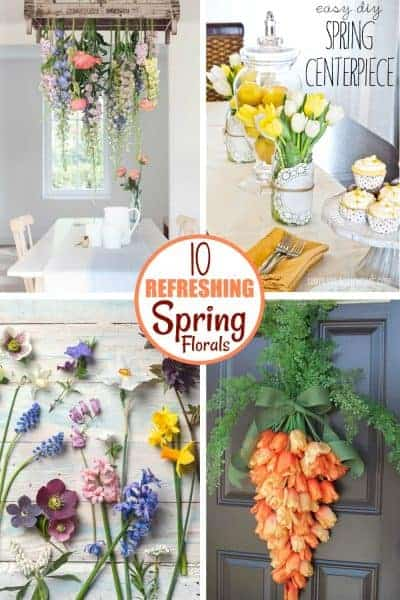 4 Beautiful spring floral decor set ups