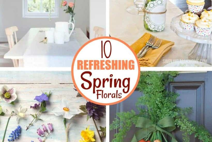 4 Beautiful spring floral decor set ups
