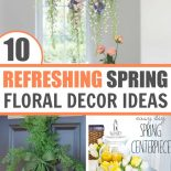 Beautiful spring floral decor collection