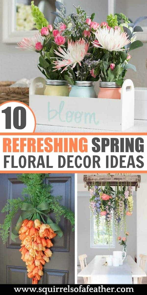 A collection of spring floral decor ideas