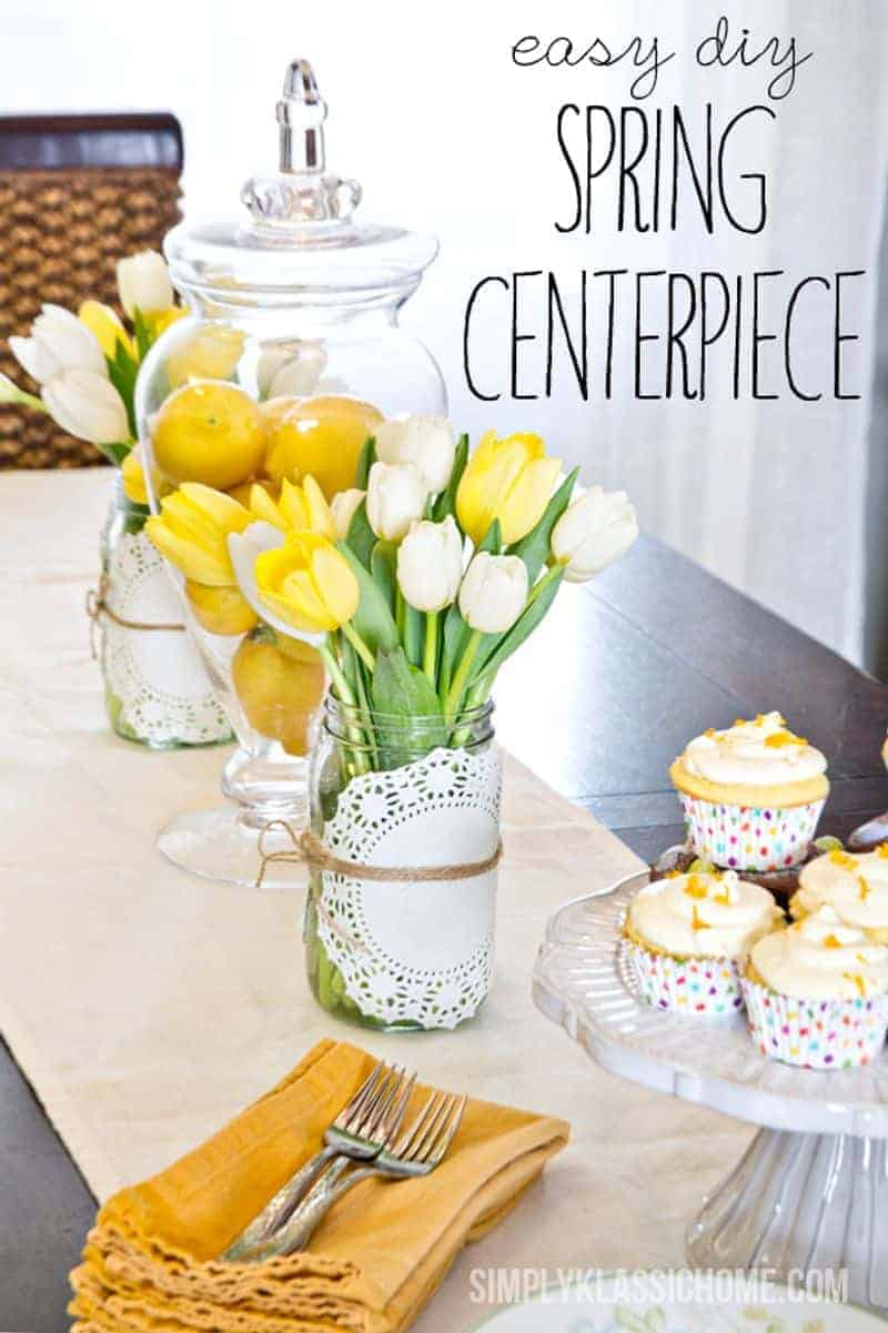 Yellow spring centerpiece