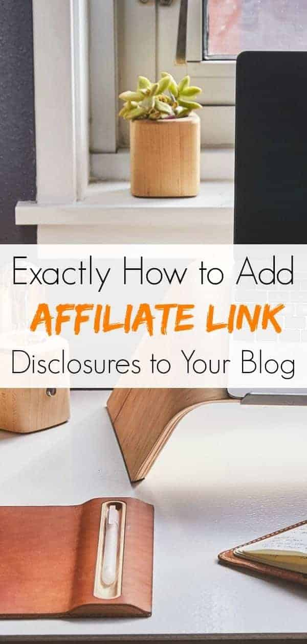How to add affiliate link statement to blog