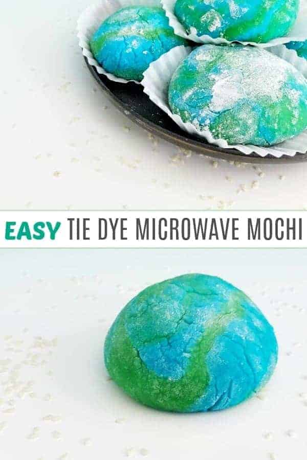 Microwave mochi in blues and greens