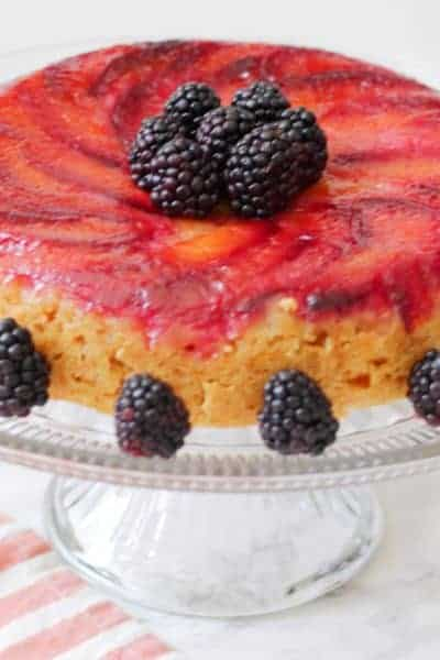 Easy Plum Rice Cooker Upside-Down Cake Recipe