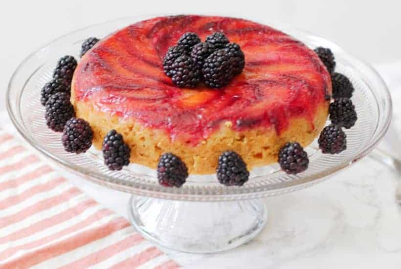 A rice cooker cake made with plums