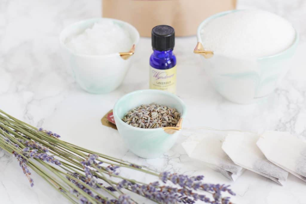 White sugar, Earl Grey, and lavender scrub