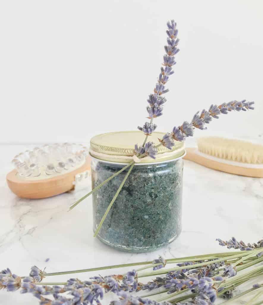 Lavender Earl Grey tea sugar scrub