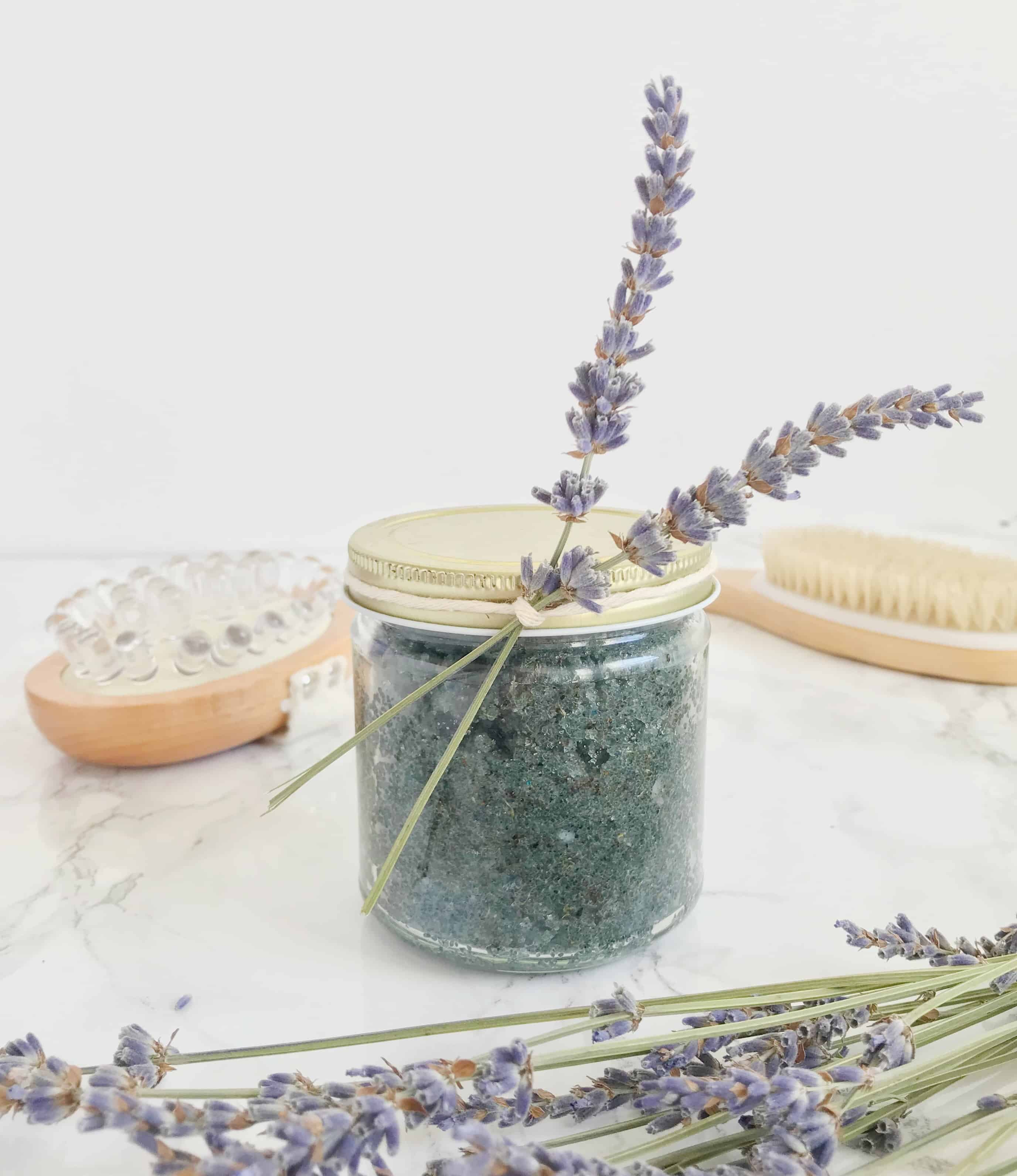 Lavender Earl Grey sugar scrub