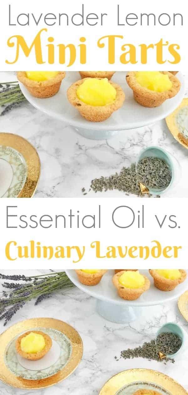 lavender lemon mini tarts with real lavender