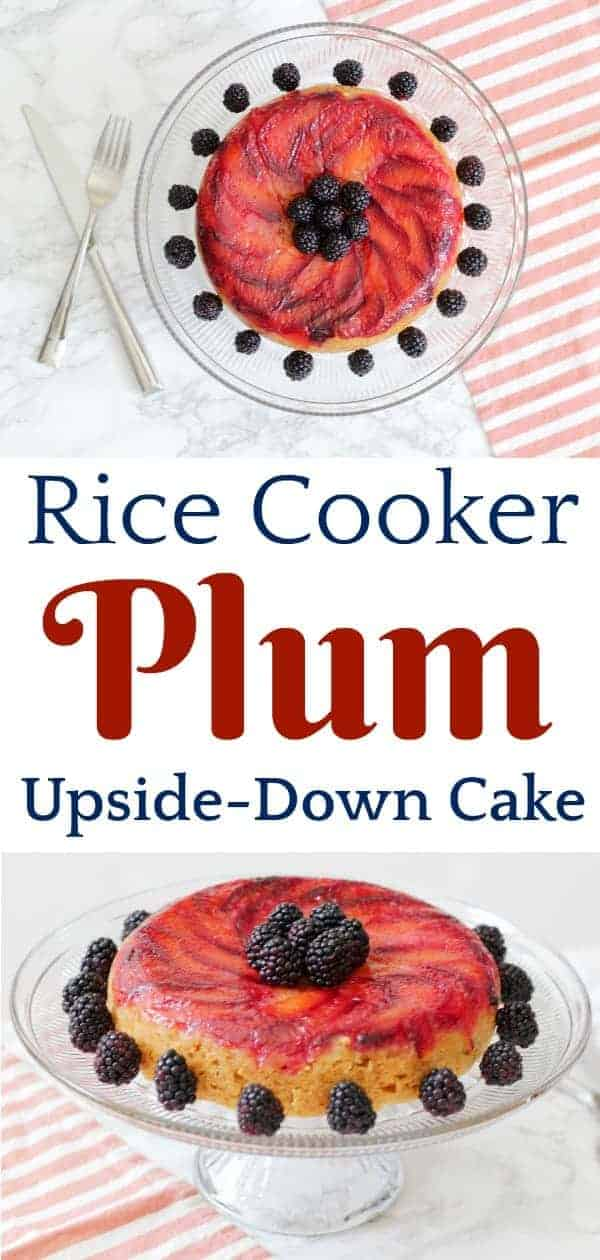 A plum cake made in the rice cooker