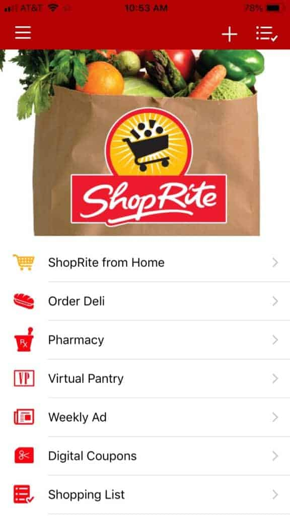 Grocery app weekly ad.