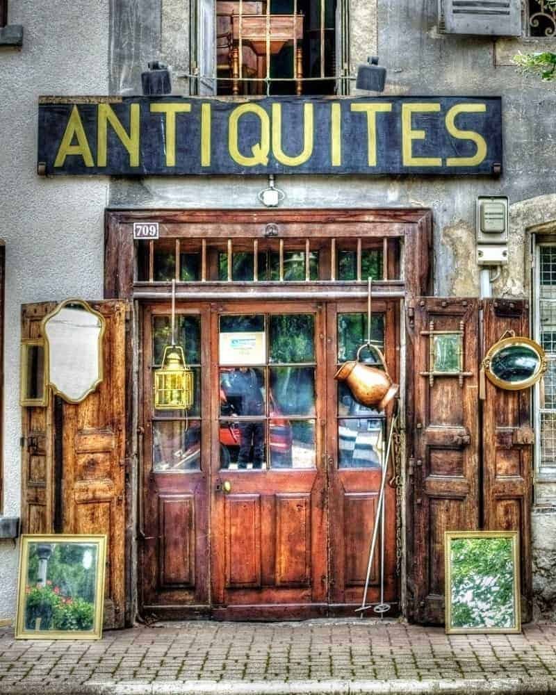An antique shop where you can buy things to sell on eBay