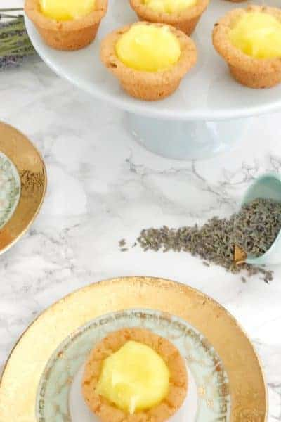 Lavender Lemon Mini Tarts