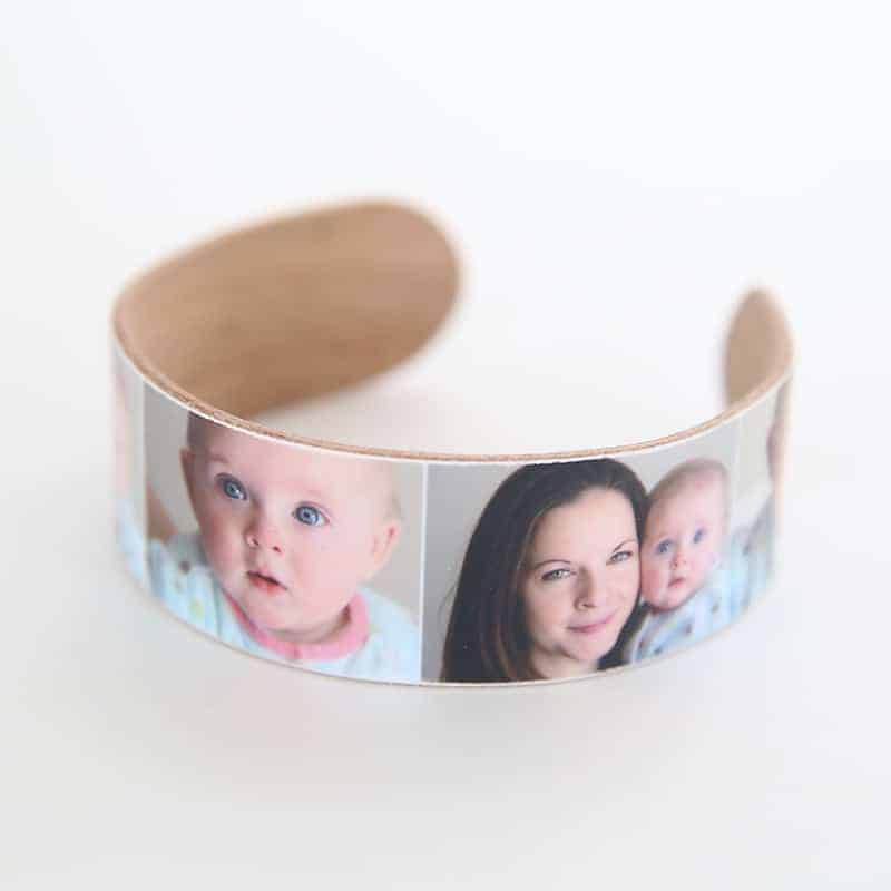 DIY photo bracelet from popsicle sticks