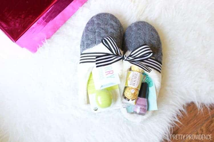 Slippers stuffed with gifts