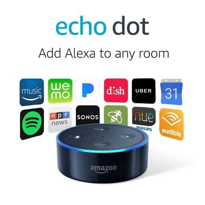 An Echo dot device
