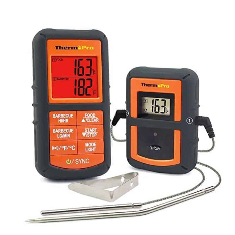 A wireless meat thermometer