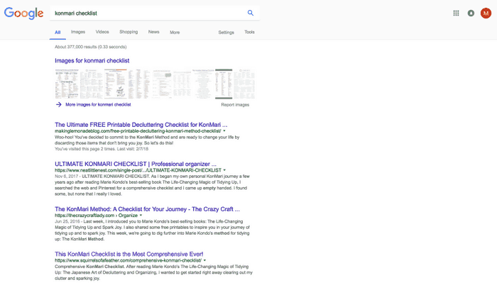 A screenshot of an effective SEO strategy
