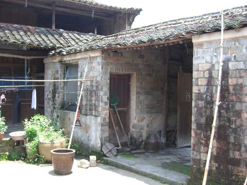 A run-down house in China