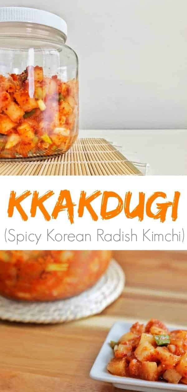 A jar and plate of spicy kimchi upon a table