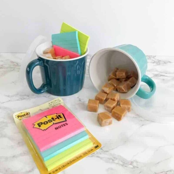 cheap DIY teacher gift of cup and candy