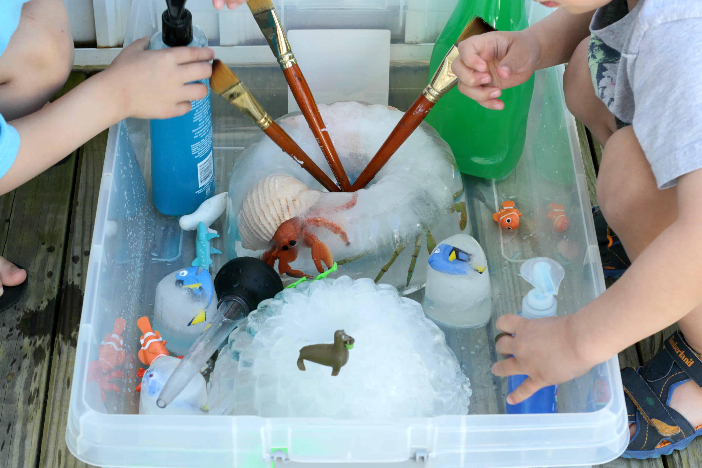 Sensory ice play