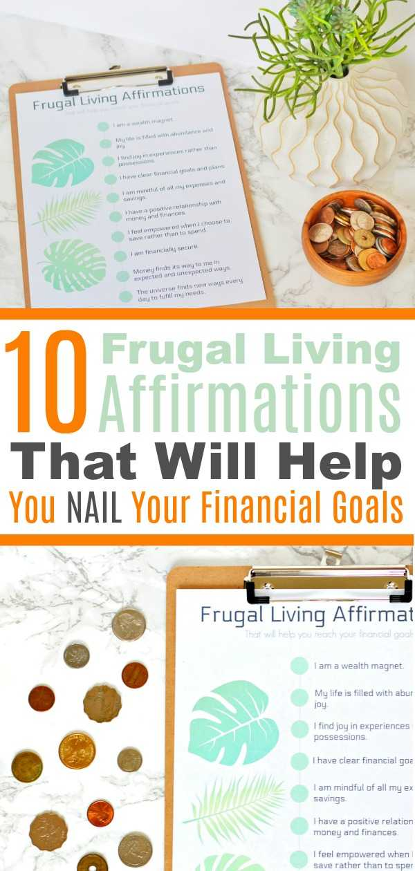Frugal affirmations for wealth