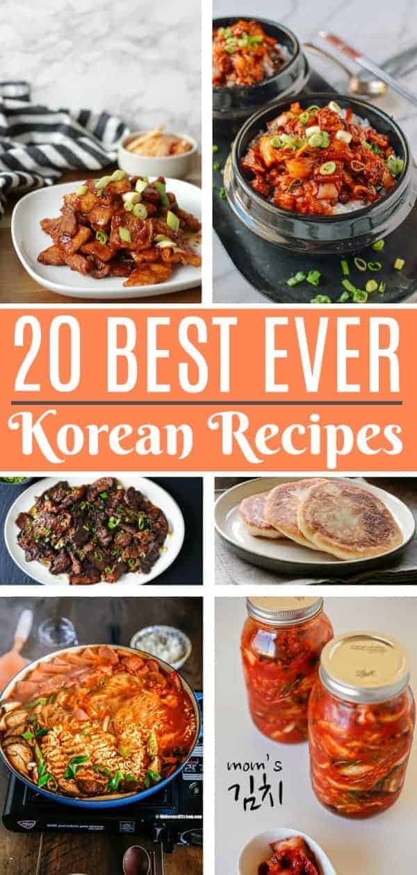 A collection of twenty amazing Korean recipes