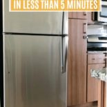 A picture of how to clean a stainless steel fridge