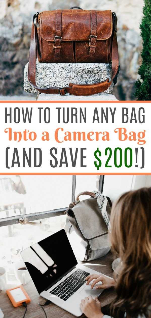 A DIY camera bag hack that will save money