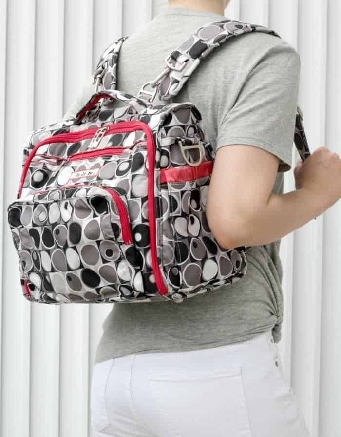 A picture of a diaper bag turned into camera bag