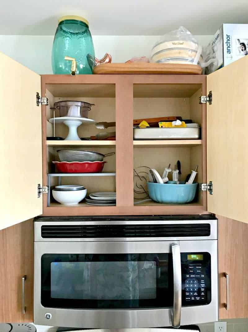 Kitchen shelved organized with KonMari Method