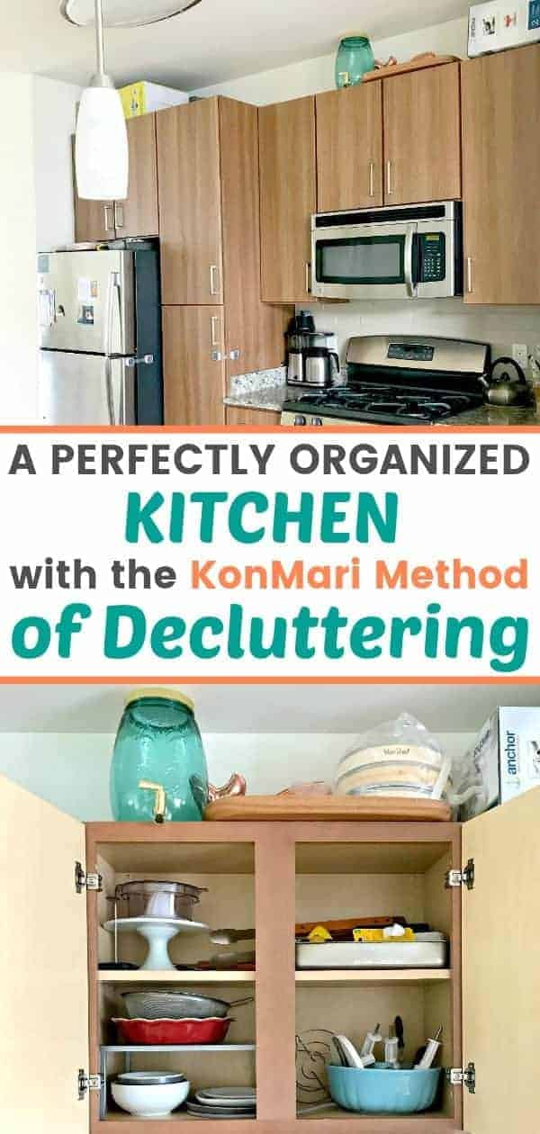 A kitchen decluttered with the KonMari Method
