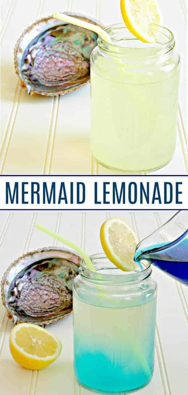 Mermaid lemonade changing color