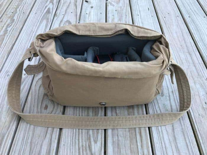A cute canvas camera bag