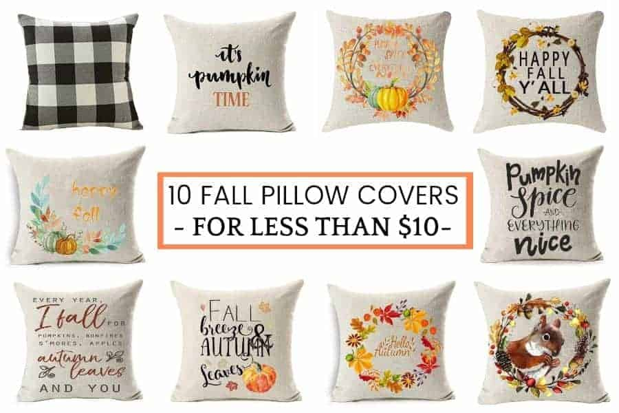 10 Best Fall Pillow Covers Under $10