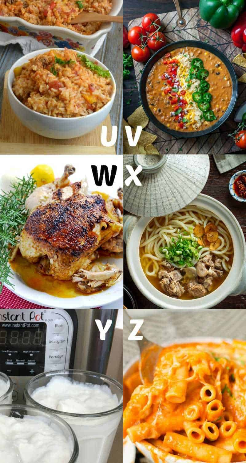 Best Instant Pot recipes for letters U-Z