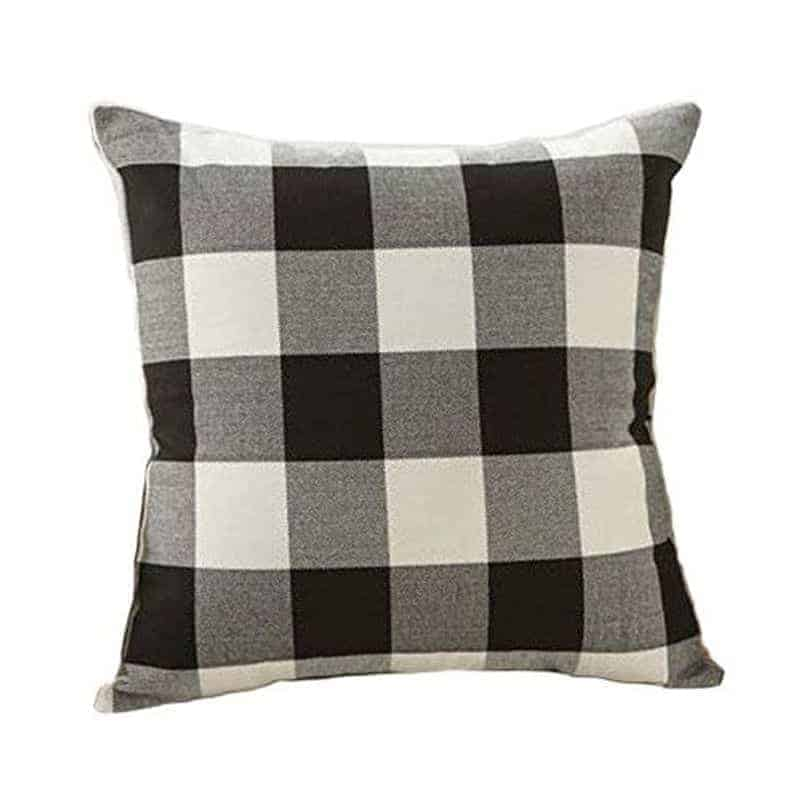 Black and white fall pillow