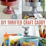 DIY Craft Caddy before and after