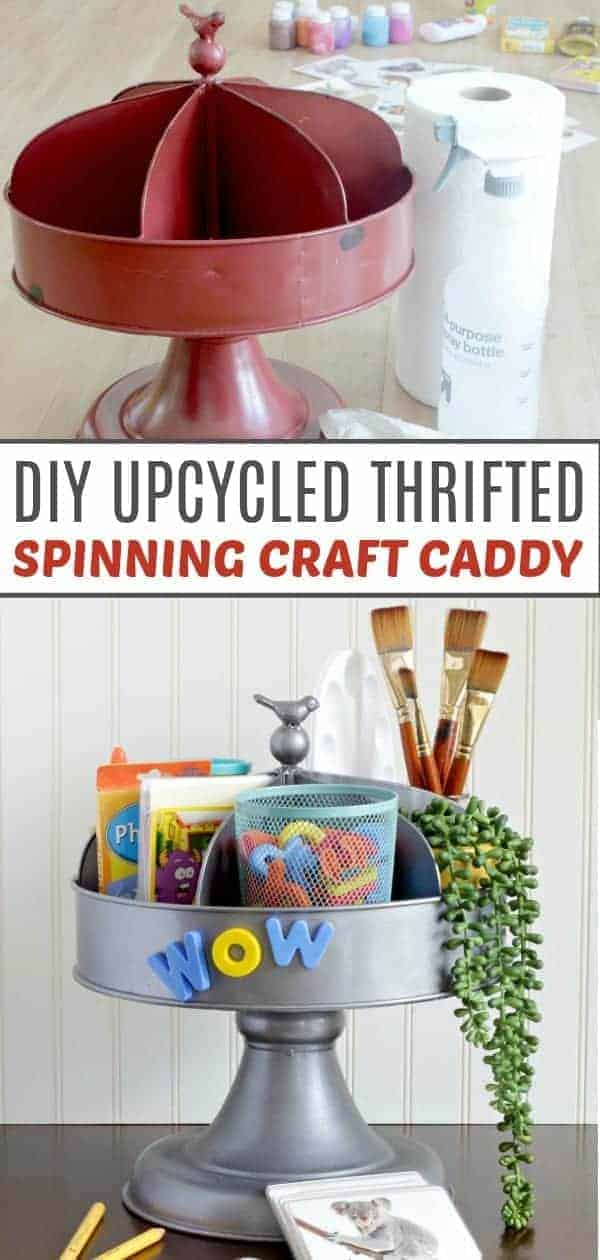 Guide on how to spray paint craft caddy